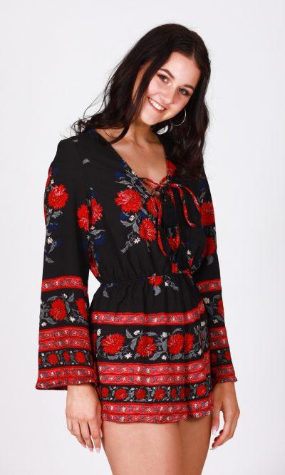 Felicity Jumpsuit - Black Floral 2