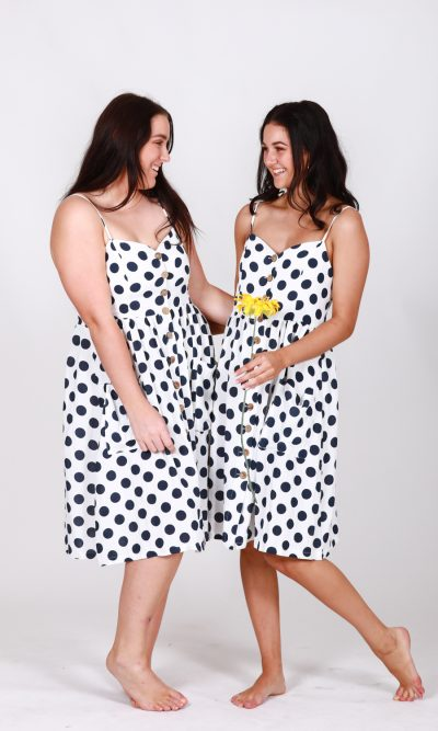 Leah Polka Dot Button Through Dress