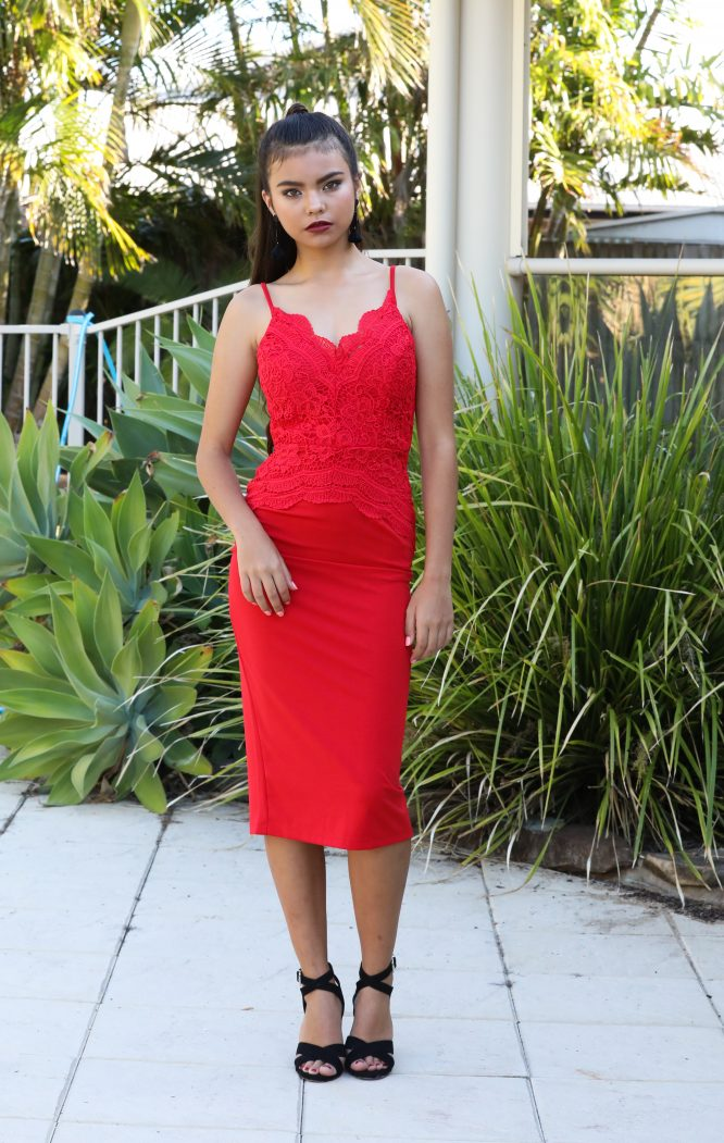 A Touch Of Lace nadia red