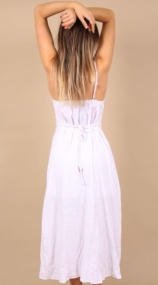 Rachel Linen Maxi Dress 2