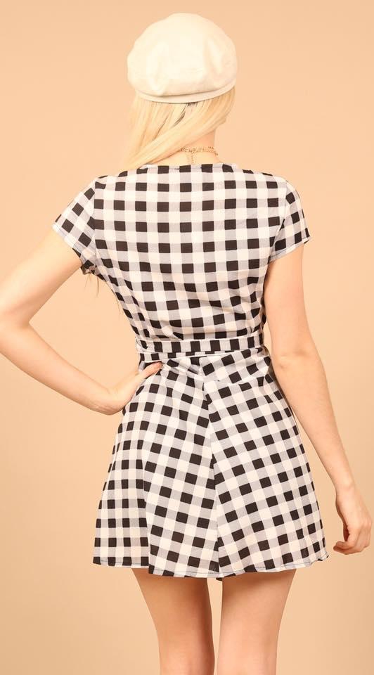 Wrap Monochrome Print Dress check