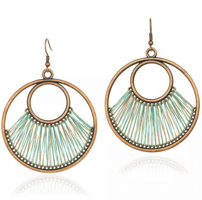 Fanfare Round Hoop Earring emerald
