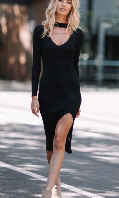 Becky Dress Black front