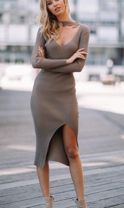 Becky Dress Mocha - Sndys The Label 2