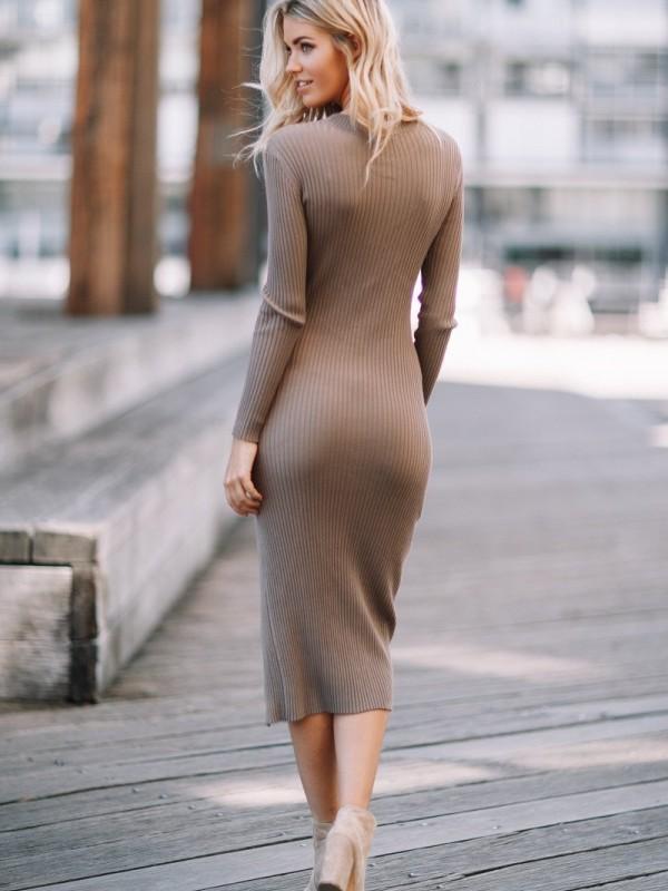 Becky Dress Mocha - Sndys The Label