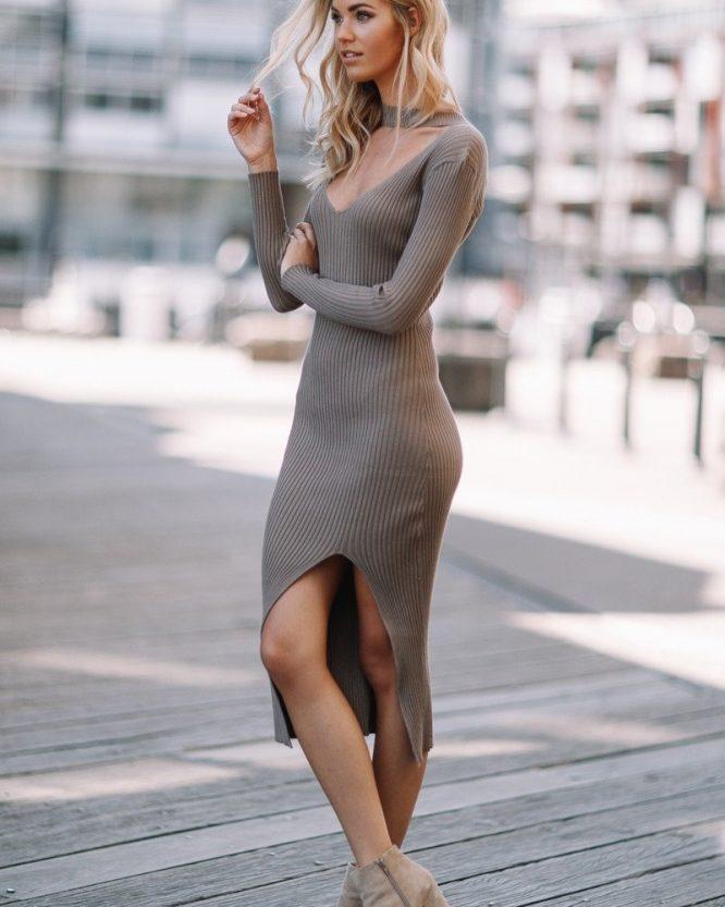 Becky Dress Mocha - Sndys The Label 3