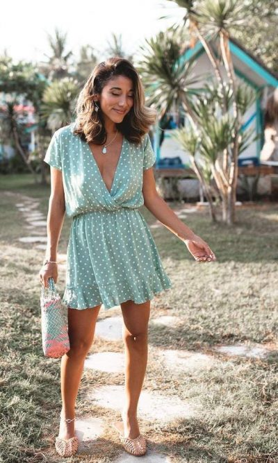 Havana Mini Dress Mint - San Jose The Label