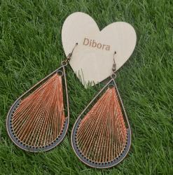 Fanfare Earrings in 5 colours orange