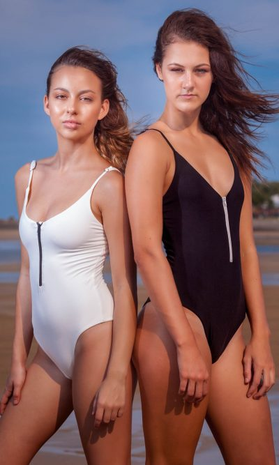 Zip Me Up One Piece - Black or White
