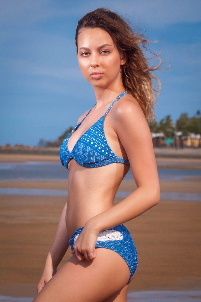 RUMBA Bikini With crochet sides - blue side