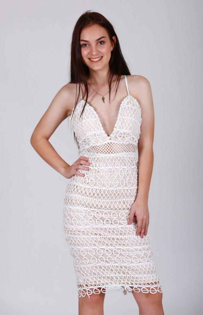 Paloma lace Dress white front