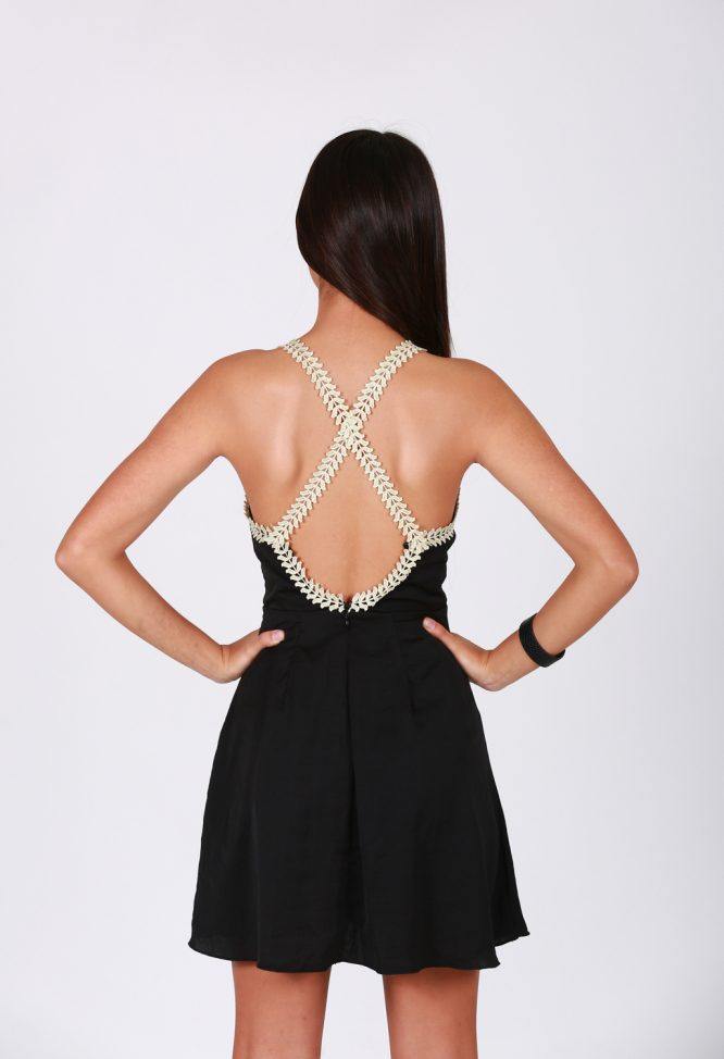 Fiesta Forever Dress - Black and Gold back