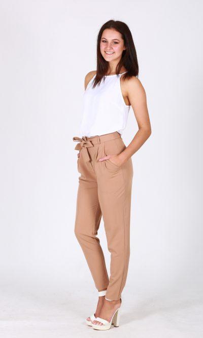 Alma Straight Leg Pant - Camel