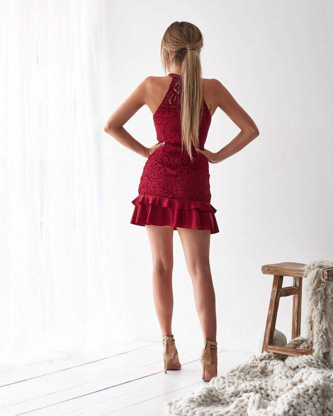 Mika Dress Red b