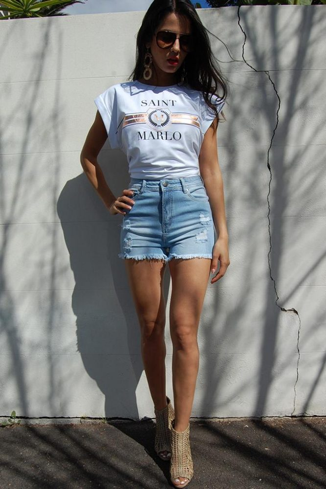 Jackson High Waist Denim Short