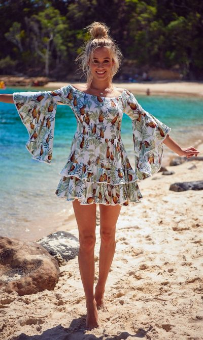 Pina Colada Print Primrose Dresss