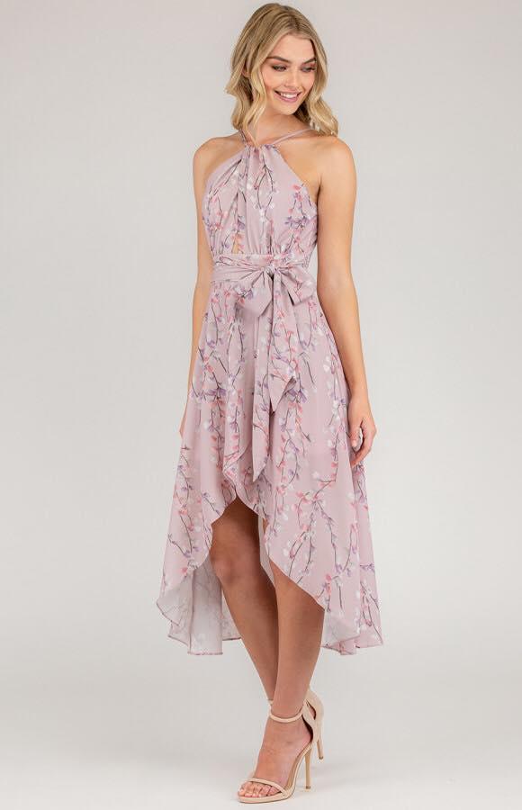 Cherry Blossom Spring Dress - Mauve