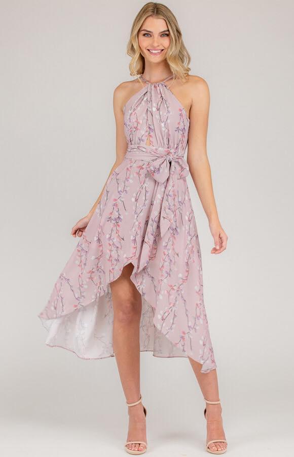 Cherry Blossom Spring Dress - Mauve 4