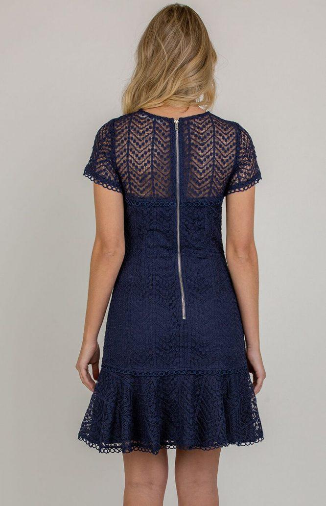 Matilda Lace Mini Dress back