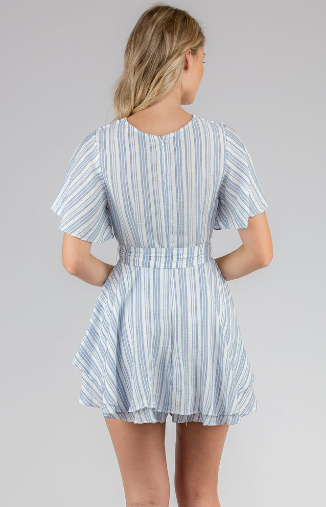 Claudia Striped Playsuit back