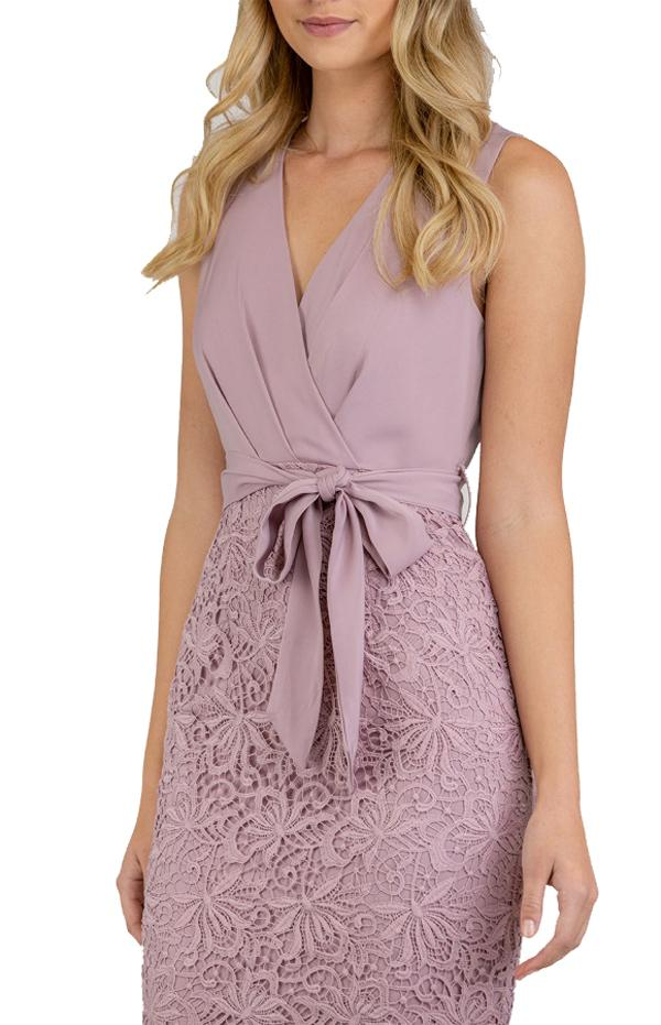 Veronica Lace Contrast Dress
