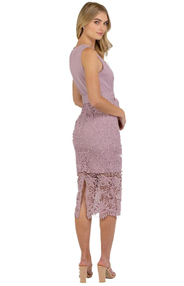 Veronica Lace Contrast Dress 4