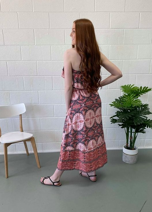 Smithton Maxi Dress - Pink Diamond back