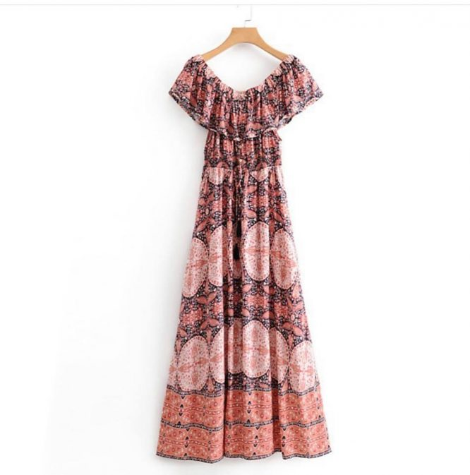 Smithton Maxi Dress - Pink Diamond