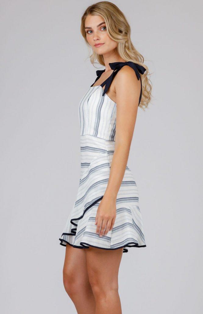 Julia Stripe Mini Dress - Navy side