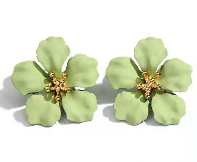 Petal Stud Earring green