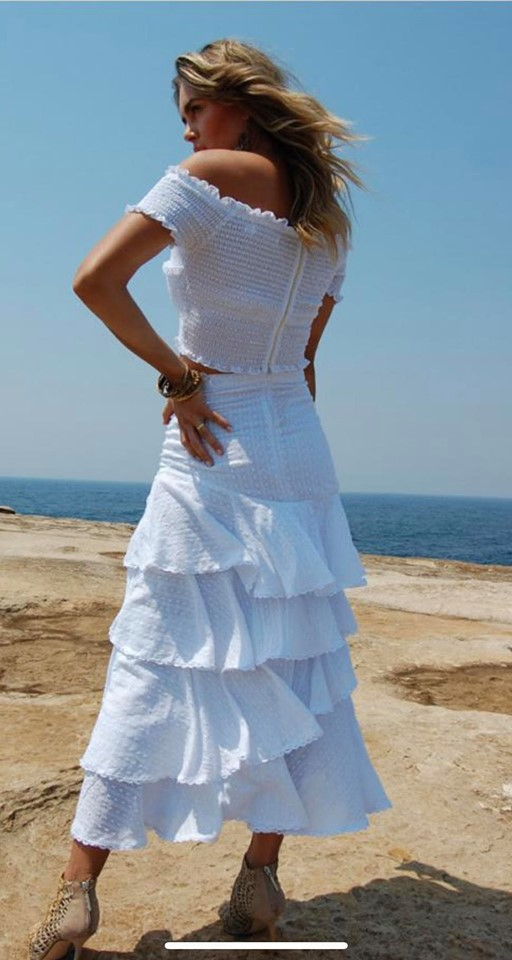 Shayla White Cropped Top - White Sandstorm