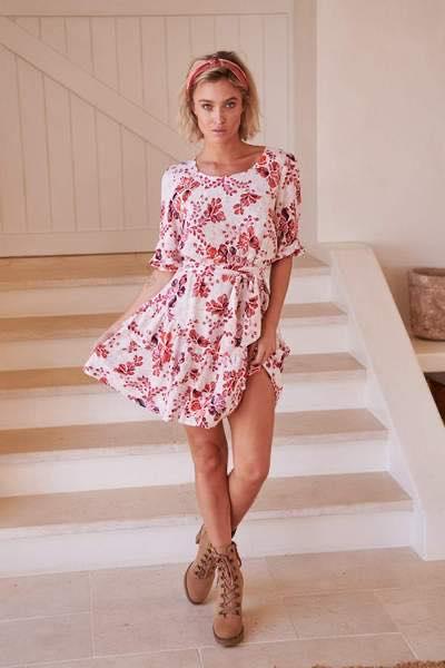 Arden Print Revival Mini Dress- Jaase 2