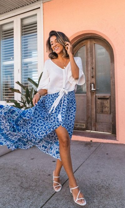 Indian Summer Boho Maxi Skirt