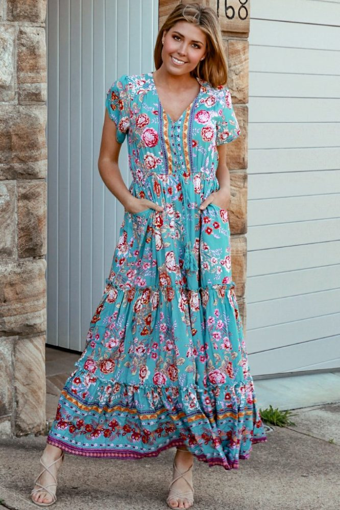 Ivory maxi dress front
